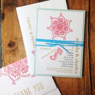 Henna Love Wedding Invitation by Beacon Lane