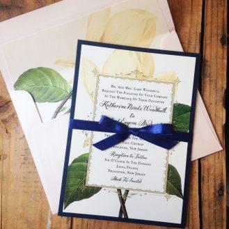 Sweet Magnolia Wedding Invitations by Beacon Lane