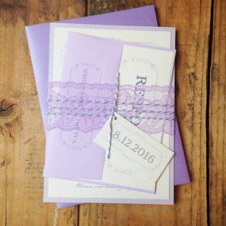 Purple Charmer Wedding Invitation by Beacon Lane
