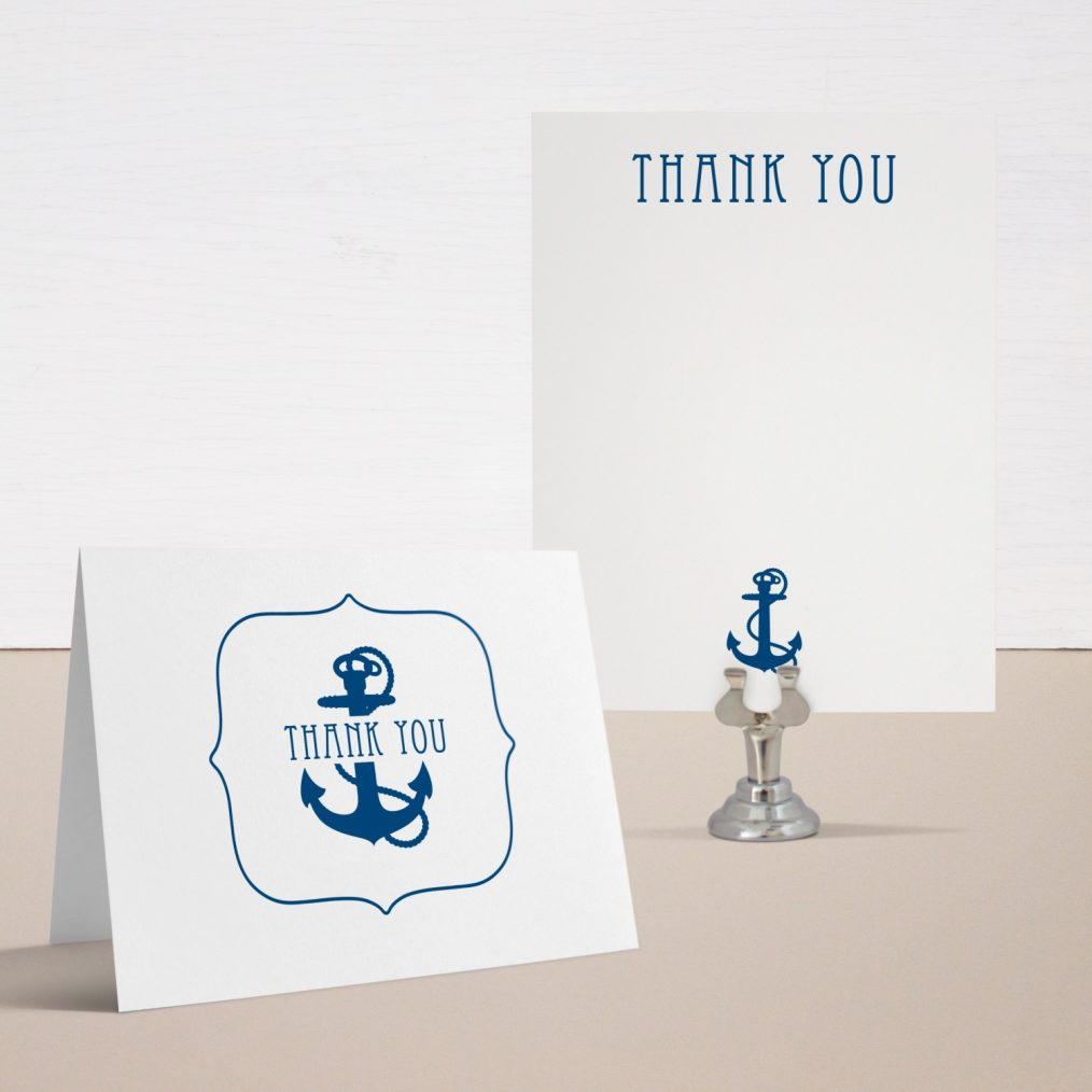 Ahoy It's A Boy Baby Shower Thank You Cards