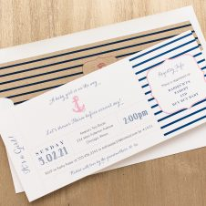 Ahoy It's A Girl Baby Shower Invitation