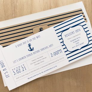 Ahoy It's A Boy Baby Shower Invitations
