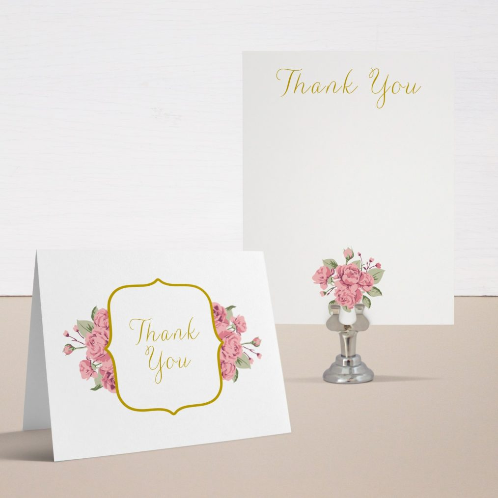 Baby Chic Baby Shower Thank You Cards