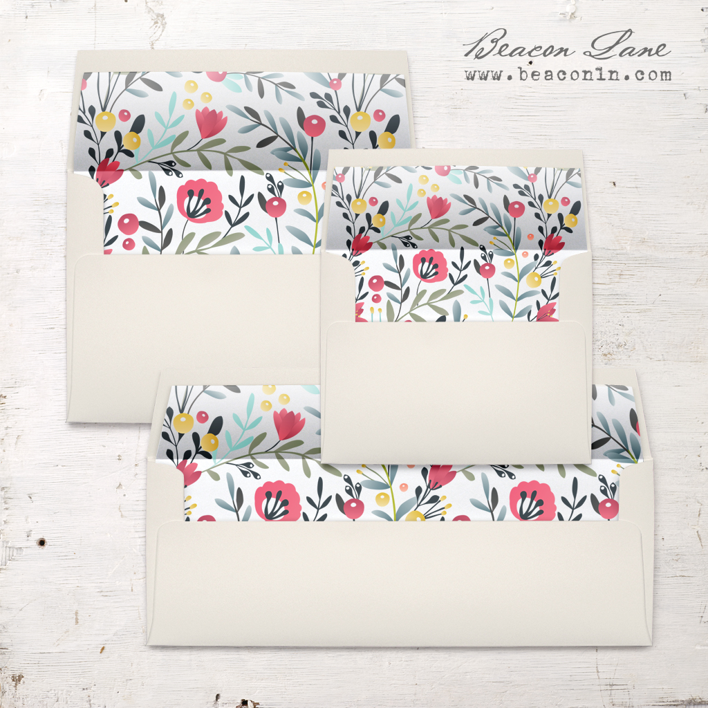 Blossoms and Berries Envelope Liners