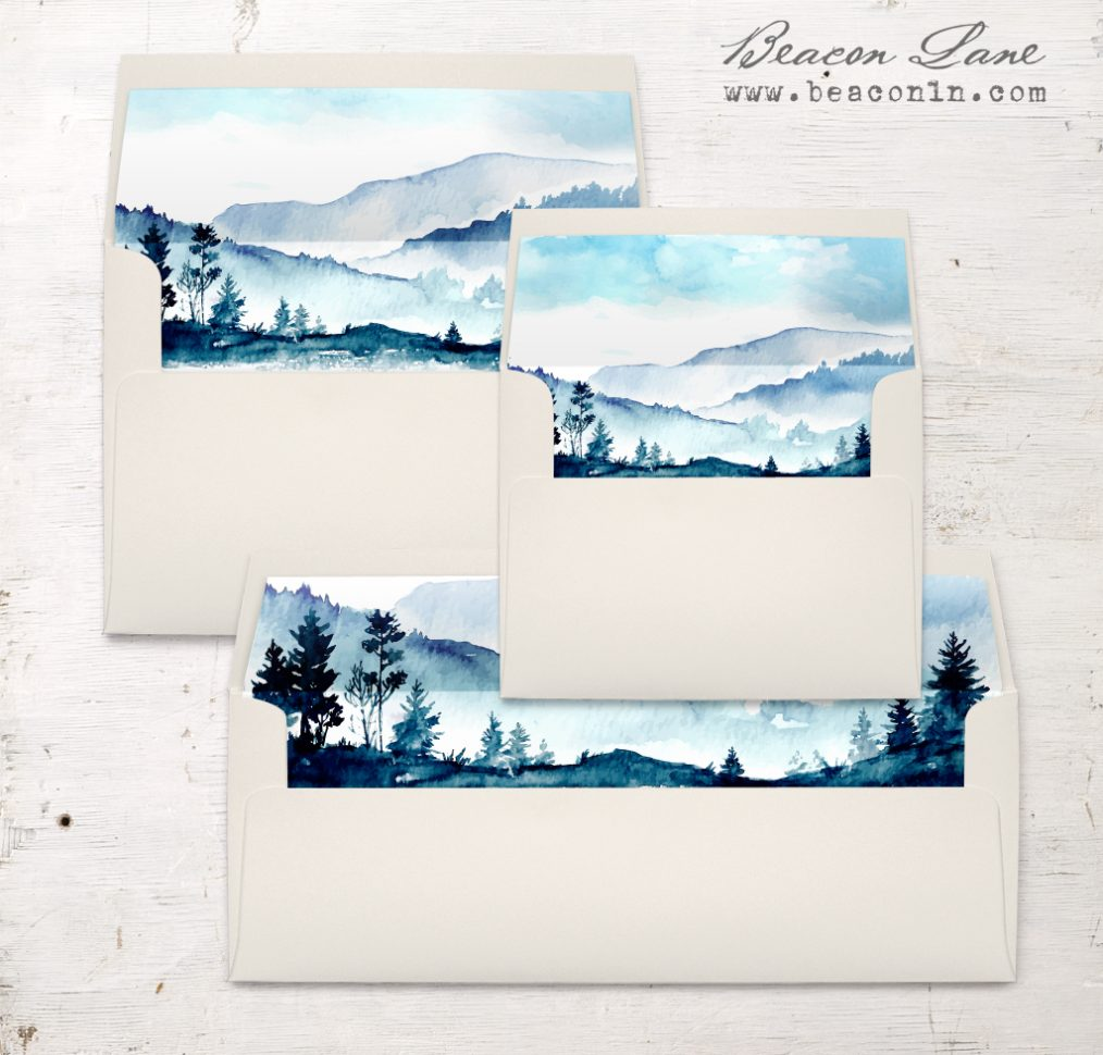 Blue Mountain Envelope Liners