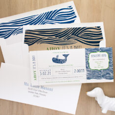 Blue Whale Baby Shower Invite