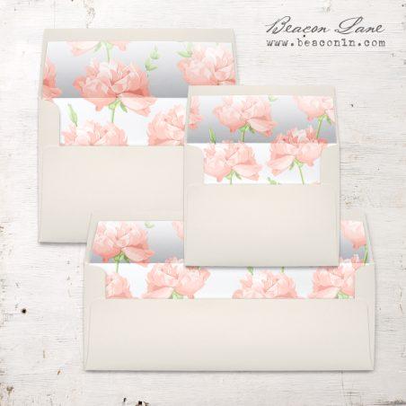 Blush Peony Envelope Liner
