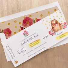 Bobby Bear Baby Shower Invitations