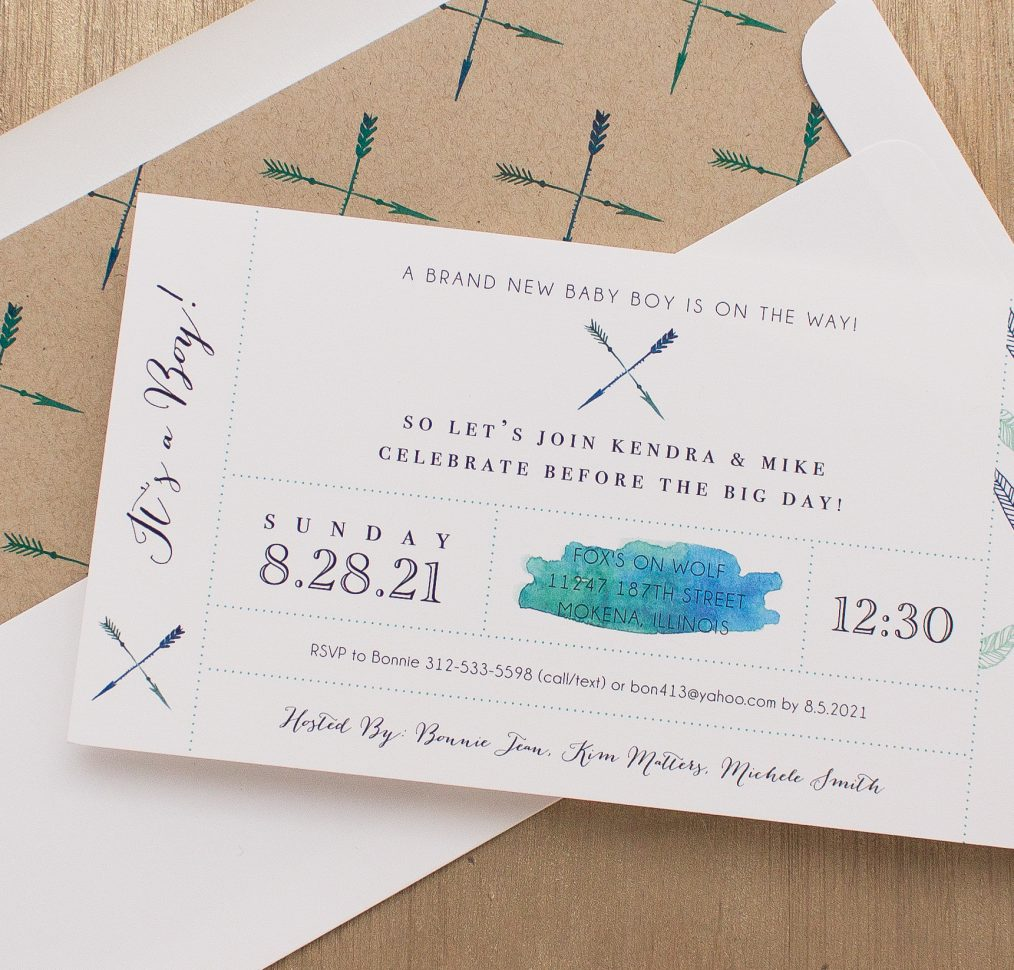 Boho Boy Baby Shower Invitation