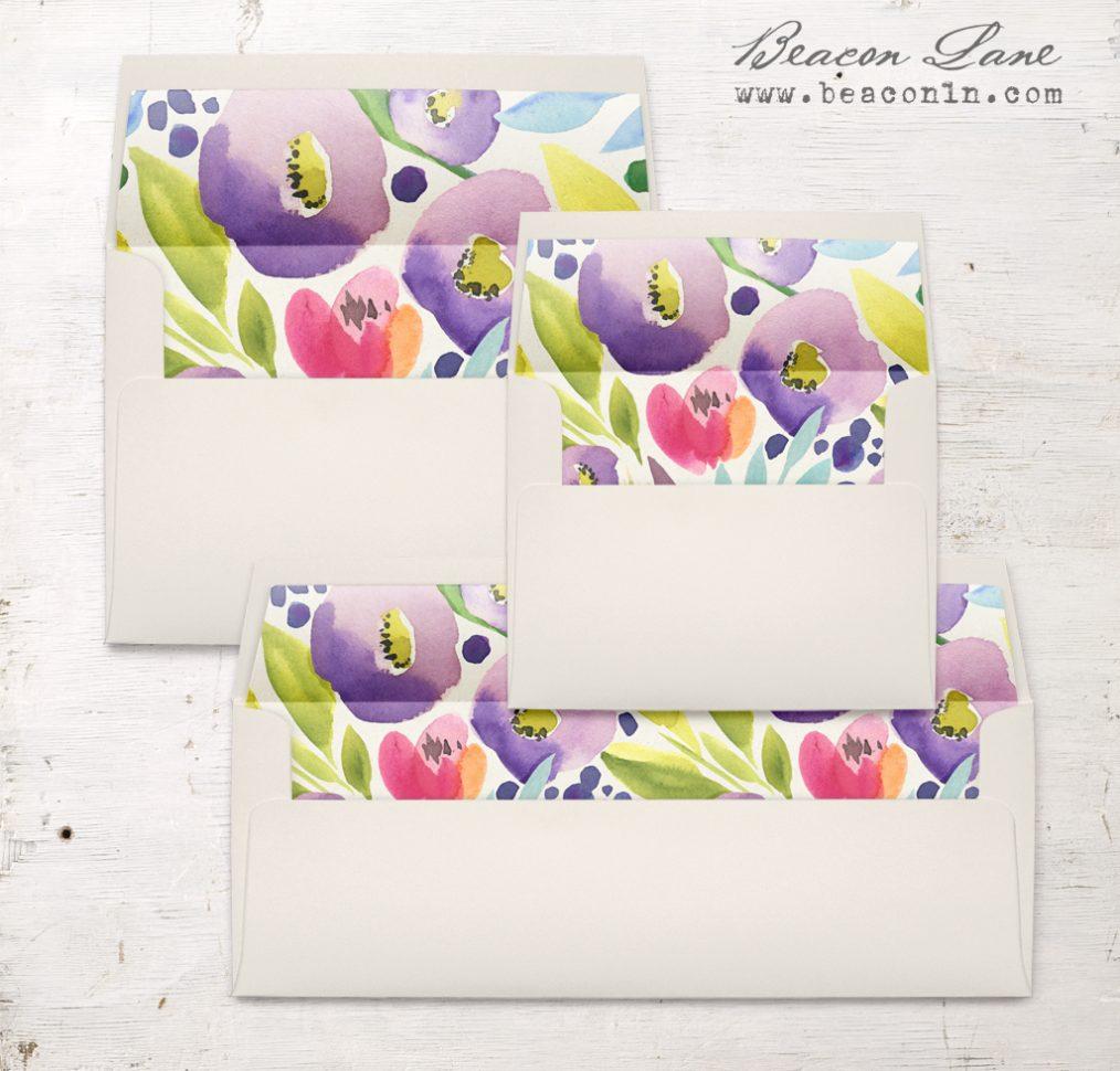 Bright Blooms Envelope Liner