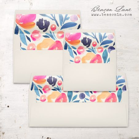 Bright Botanical Envelope Liner