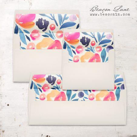 Bright Botanical Envelope Liner
