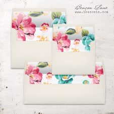 Bright Hibiscus Envelope Liner