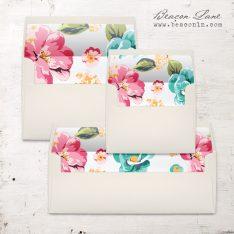 Bright Hibiscus Envelope Liner