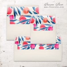 Bright Tulip Envelope Liners