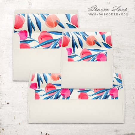 Bright Tulip Envelope Liners