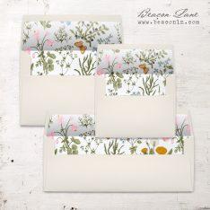 Butterfly Garden Envelope Liner