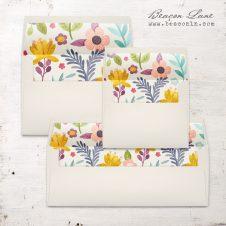 Garden Flowers Envelope Liners