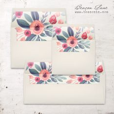 Soft Watercolor Envelope Liner