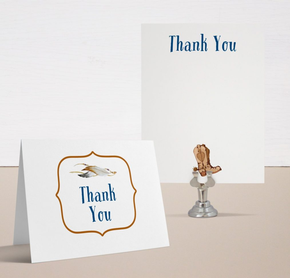 Cowboy Cutie Baby Shower Thank You Cards