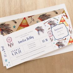 Cowboys & Indian Baby Shower Invitations