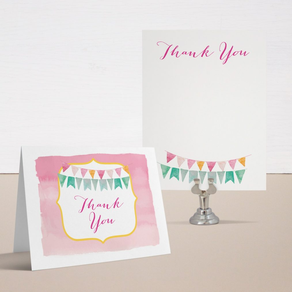 Cute as a Button Baby Shower Thank You Cards