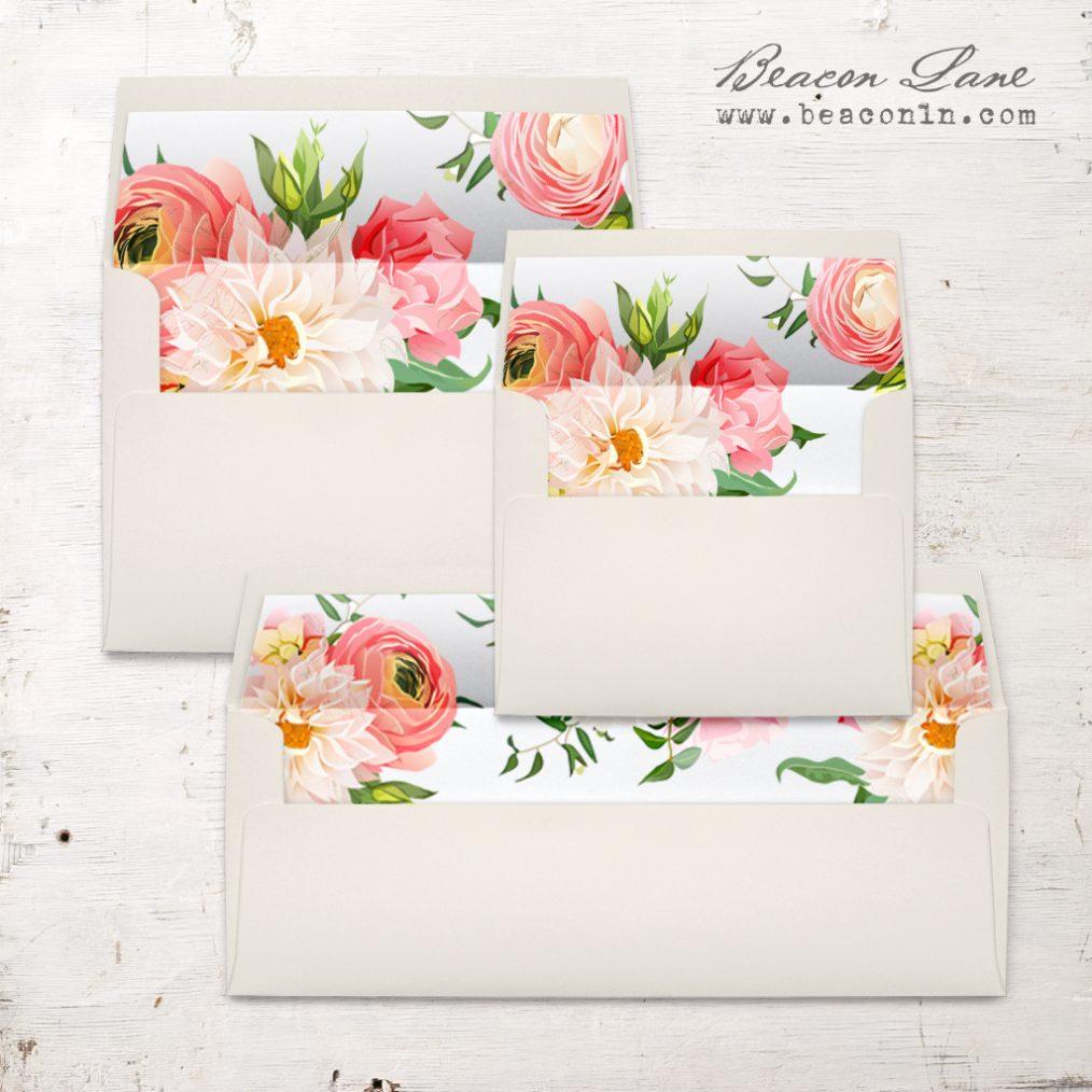 Dahlia Rose Envelope Liner