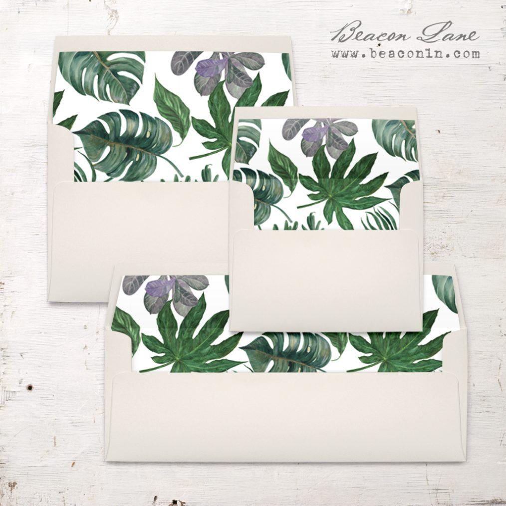 Deep Green Tropics Envelope Liner