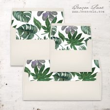 Deep Green Tropics Envelope Liner