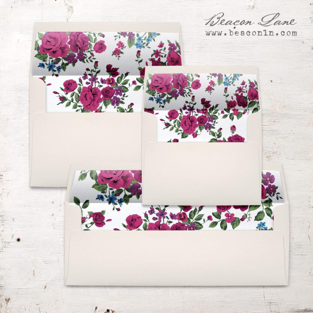 Deep Rose Envelope Liner