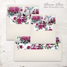 Deep Rose Envelope Liner