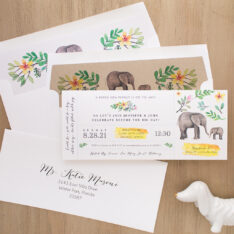 Ellie The Elephant Baby Shower Invite