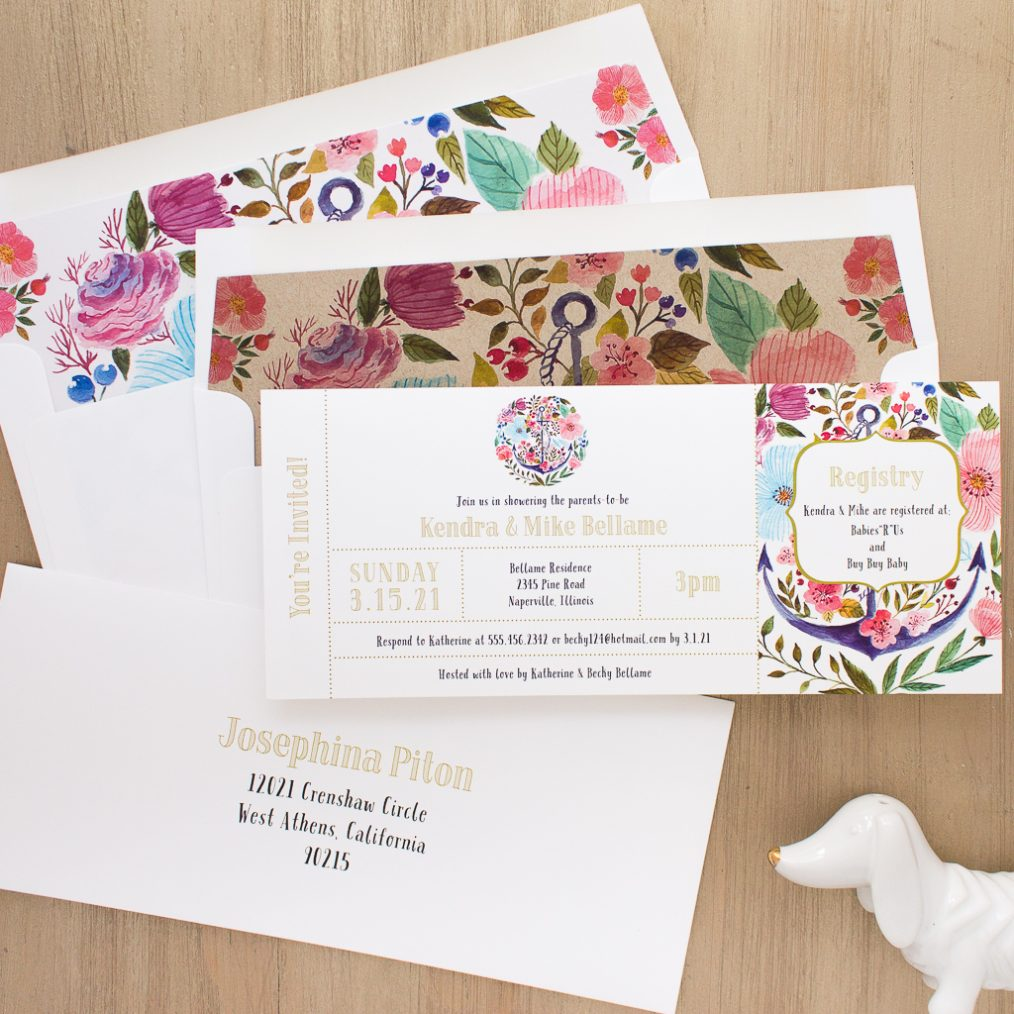Floral Whimsy Baby Shower Invite