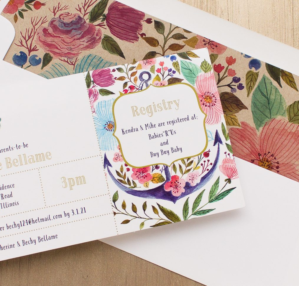 Floral Whimsy Baby Shower Invitation