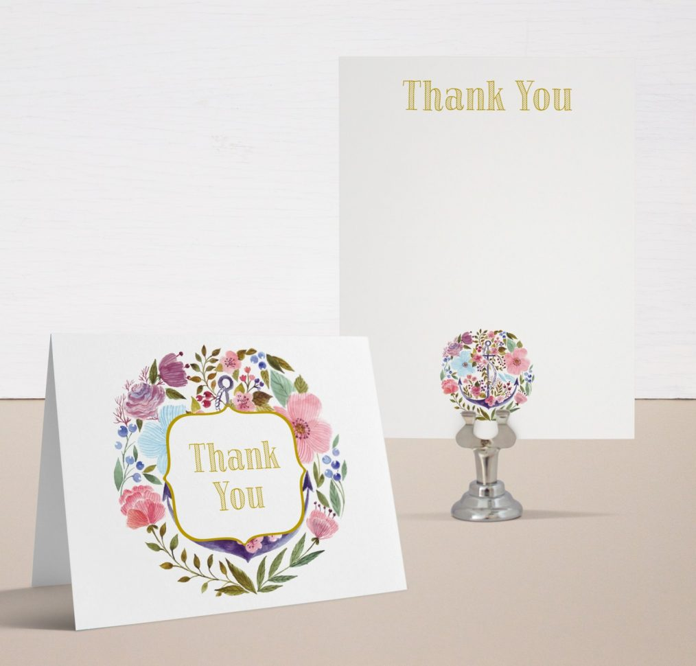 Floral Whimsy Baby Shower Thank You Cards