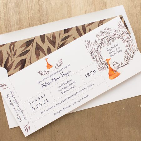 Freddie Fox Baby Shower Invitations