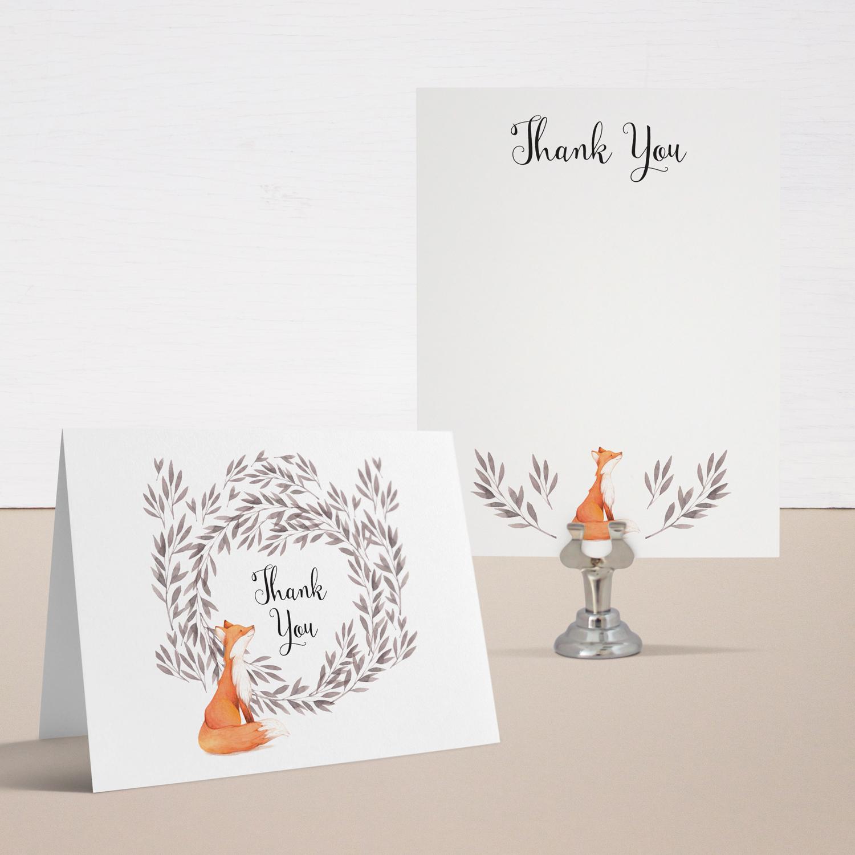 Freddie Fox Baby Shower Thank You Cards