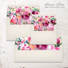 Fuchsia Abstract Envelope Liner