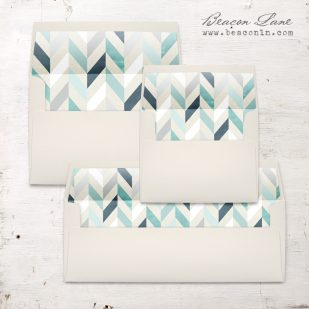 Geometric Mint and Navy