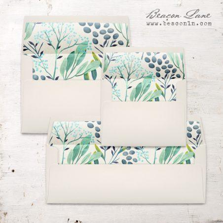 Navy Botanicals Envelope Liner