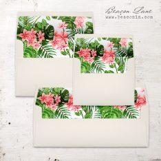 Hawaiian Garden Envelope Liners