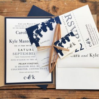 Rustic Chic Winery Wedding Invitation by Beacon Lane