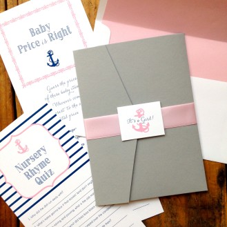 Nautical Bliss Baby Shower Invites & Stationery by Beacon Lane