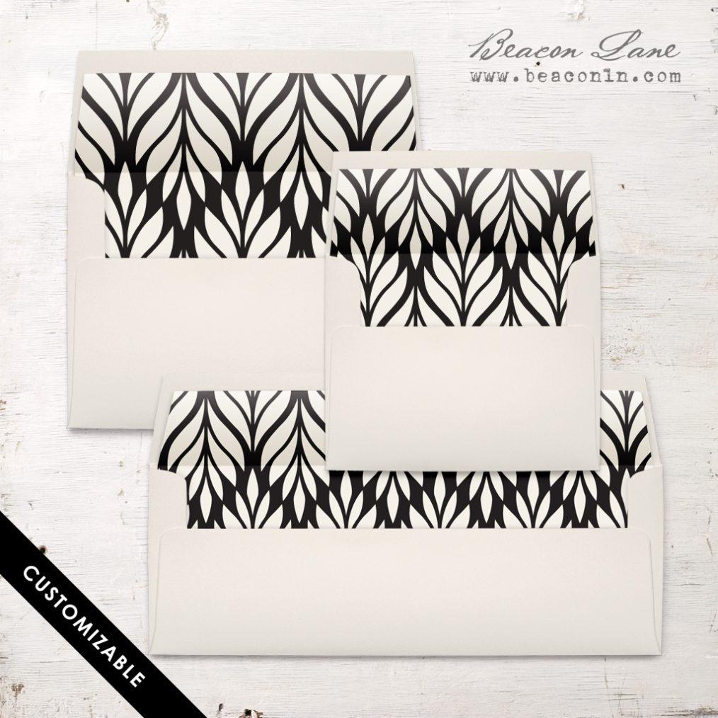 Geometric Leaves Envelope Liner