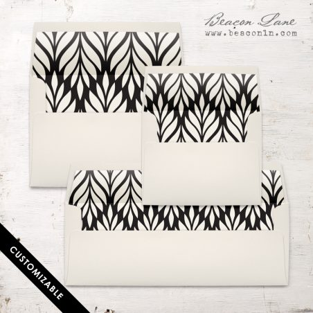 Geometric Leaves Envelope Liner