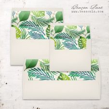 Jungle Leaf Envelope Liner