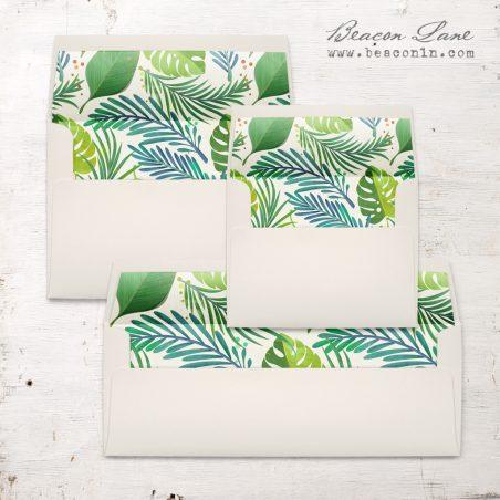 Jungle Leaf Envelope Liner