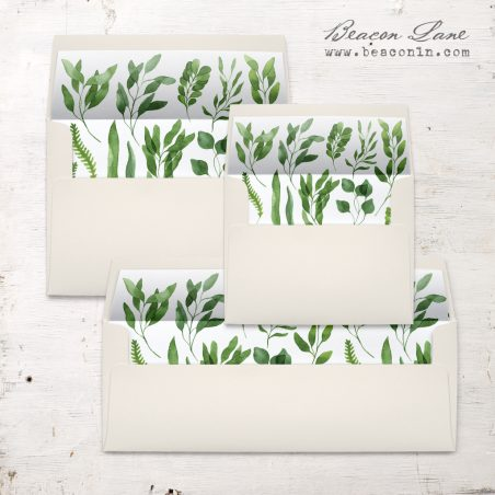 Green Branches Envelope Liner