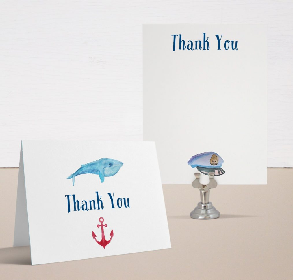 Lil Sailor Man Baby Shower Thank You Cards