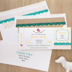 Little Owl Baby Shower Invite